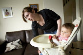 A Young family with a low income at their rented home in Weston-super-Mare. - Paul Box - 22-05-2009
