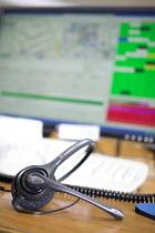 Avon Fire Control Centre, Bath. - Paul Box - work,2000s,2007,call centre,call centre,call centres,capitalism,centre centres,communicating,communication,COMPUTE,computer,computer computers,COMPUTERS,COMPUTING,control centre,control room,DIA,earph