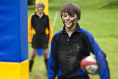 Playing Rugby. Clevedon community school, Clevedon. - Paul Box - 08-09-2008