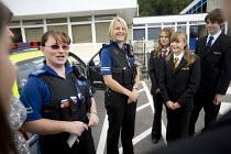 PCSO's meeting pupils. Clevedon community school, Clevedon. - Paul Box - 11-09-2008