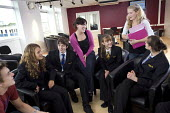 Mixed age tutor group, Clevedon community school, Clevedon. - Paul Box - 11-09-2008