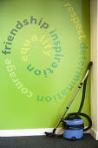 Vacuum cleaner in the corner of a classroom, Bristol City Academy, Bristol. - Paul Box - 10-10-2008