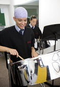 A steel band playing in the music studio, Bristol City Academy, Bristol. - Paul Box - 10-10-2008