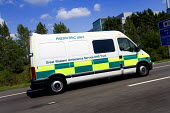 Great Western Ambulance Service, Paediatric unit, on the M4 motorway. - Paul Box - 04-10-2009