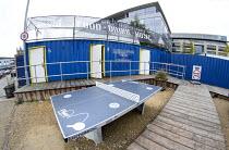 A free to use table tennis table, Bristol Temple Quarter Enterprise zone, Temple Meads, Bristol. - Paul Box - 2010s,2014,Bristol,building,buildings,cities,city,EBF,Economic,Economy,urban
