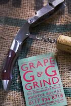 Corkscrew. Grape And Grind Independent wine and beer shop, Gloucester rd, Bristol. - Paul Box - 2010s,2014,Bristol,EBF Economy,retail,RETAILER,RETAILERS,RETAILING,SERVICE,SERVICES,shop shops,urban city,vintner,wine,wine merchant,wines