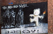 Banksy The Mild Mild West artwork, Stokes Croft, Bristol. - Paul Box - 16-10-2014