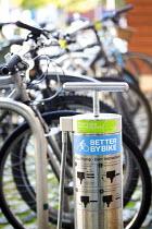 Free bike air pump installed at @Bristol, Bristol. - Paul Box - 16-10-2014