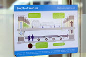 A Sign explaining the ventilation system to remove vehicle exhaust fumes (Carbon Dioxide CO) from the Car Park, @Bristol, millennium square, Bristol. - Paul Box - 16-10-2014