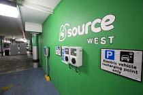 Electric car charging point in a car park Bristol, Millennium Square, Bristol. - Paul Box - 16-10-2014
