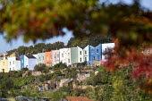 Houses in Clifton wood, Bristol. - Paul Box - 2010s,2014,Bristol,building,buildings,cities,city,color,colorful,colorfull,colors,colour,colourful,colours,EBF,Economic,Economy,house,houses,housing,terrace,terraced,Terraced Houses,terraces,urban