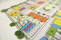 Plans showing the new Barratt Home development, Kingswood, Bristol. - Paul Box - ,2010s,2014,Barratt Homes,bought,build,builder,builders,building,BUILDINGS,cities,city,Construction Industry,development,drawing,EBF,Economic,Economy,gousing,Home,house,house building,housebuilder,hou