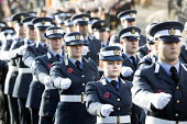 Remembrance Sunday. RAF serving forces personnel parade to the Cenotaph, Bristol - Paul Box - 09-11-2014