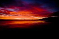 Sunset at Freshwater West beach, Pembrokeshire. - Paul Box - 20-11-2008