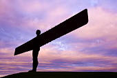 The Angel of the North, a contemporary sculpture designed by Antony Gormley, located in Gateshead. England. - Paul Box - 26-11-2008
