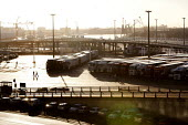 Lorries parked. Dover ferry port. - Paul Box - 06-01-2008