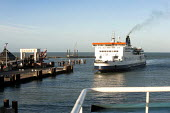 A ferry arrives at Dover ferry port. - Paul Box - 06-01-2008