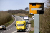 Speed camera that has been vandalised on the A361 in Devon. - Paul Box - 2000s,2009,against,anti,anti social behavior,anti social behaviour,anti socialanti social behavior,antisocial,antisocial behaviour,antisocialvandalise,antisocialvandalize,AUTO,AUTOMOBILE,AUTOMOBILES,A