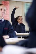 Pupils at Bristol City Academy. - Paul Box - 2000s,2009,adolescence,adolescent,adolescents,arithmetic,BAME,BAMEs,Black,BME,bmes,child,CHILDHOOD,children,cities,city,class,classroom,classrooms,diversity,edu,educate,educating,education,educational