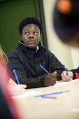 YAF (Youth Achievement Foundation) students at Bristol City Academy. Students can work towards a BTEC qualification in vocational subjects. - Paul Box - ,2000s,2009,Achievement,adolescence,adolescent,adolescents,BAME,BAMEs,Black,BME,bmes,child,CHILDHOOD,children,cities,city,class,classroom,CLASSROOMS,diversity,edu,educate,educating,education,education