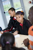 YAF (Youth Achievement Foundation) students at Bristol City Academy. Students can work towards a BTEC qualification in vocational subjects. - Paul Box - 05-05-2009