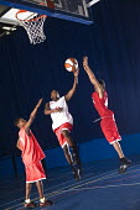 Pupils playing basketball at Bristol City Academy. - Paul Box - 13-05-2009