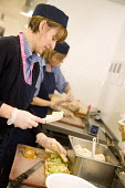 Caterers at Bristol City Academy. - Paul Box - 2000s,2009,adolescence,adolescent,adolescents,caterer,caterers,catering,chef,chefs,cities,city,cook,COOKERY,cooking,cooks,EARNINGS,edu,educate,educating,education,educational,employee,employees,Employ