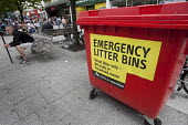 Emergency litter bins in Southampton, due to strikes preventing the bins being emptied. - Paul Box - 03-07-2011