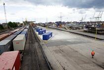Freight railhead, Southampton docks. Southampton. - Paul Box - 03-07-2011