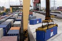 Freight railhead, APL containers. Southampton docks. Southampton. - Paul Box - 03-07-2011