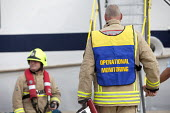 Oporational monitoring. A cruise ship has a mock fire incident attended by the fire brigade. - Paul Box - 05-08-2011