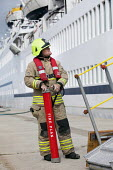 With the Fire Plan. A cruise ship has a mock fire incident attended by the fire brigade. - Paul Box - 05-08-2011
