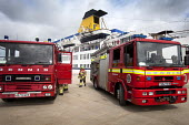 A cruise ship has a mock fire incident attended by the fire brigade. - Paul Box - 05-08-2011