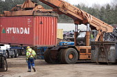 Lorries get loaded with sorted metals for export to India and China, at SITA Lenwade metals processing centre. - Paul Box - 27-03-2009