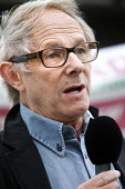 Film maker Ken Loach, speaking at a protest against the privatisation of Bristol Homecare Services, Bristol. - Paul Box - 03-09-2011