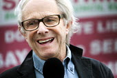 Film maker Ken Loach, speaks at a protest against the privatisation of Bristol Homecare Services, Bristol. - Paul Box - 03-09-2011