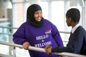 Hello and welcome for pupils just starting from a sixth form ambassador, Post-16 students at Bristol City Academy. - Paul Box - 2010,2010s,6th form,adolescence,adolescent,adolescents,BAME,BAMEs,Black,BME,bmes,boy,boys,child,CHILDHOOD,children,cities,city,class,classroom,CLASSROOMS,communicating,communication,conversation,dialo