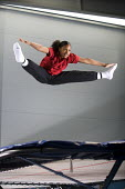 A student on the trampoline at Bristol City Academy. - Paul Box - 12-05-2010