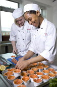 Students learning to become chefs at Bristol City Academy. - Paul Carter - 23-03-2010