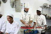 Students learning to become chefs at Bristol City Academy. - Paul Box - 23-03-2010