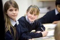 Pupils at Bristol City Academy. - Paul Box - 2010,2010s,adolescence,adolescent,adolescents,child,CHILDHOOD,children,cities,city,class,classroom,CLASSROOMS,edu,educate,educating,education,educational,EMOTION,EMOTIONAL,EMOTIONS,English Literature,