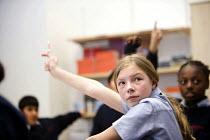 Pupils at Bristol City Academy. - Paul Box - ,2010,2010s,adolescence,adolescent,adolescents,BAME,BAMEs,black,BME,bmes,boy,boys,child,CHILDHOOD,children,cities,city,class,classroom,CLASSROOMS,cultural,diversity,edu,educate,educating,education,edu