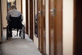 A disabled man at home. Kerry, Ireland - Paul Box - Irish,2010,2010s,age,ageing population,alone,bound,diabetes,diabetic,diabetics,disabilities,disability,disable,disabled,disablement,elderly,EMOTION,EMOTIONAL,EMOTIONS,eu,Europe,european,europeans,euro