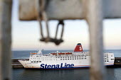 Stena Line ferry in Rosslare port, Ireland. - Paul Box - Irish,2010,2010s,boat,boats,capitalism,capitalist,dock,docks,dockside,EBF,Economic,Economy,eu,Europe,european,europeans,eurozone,ferries,ferry,harbor,harbors,harbour,harbours,holiday,holidays,Industri