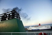Stena Line ferry in Rosslare port, Ireland. - Paul Box - (NO2), Irish,2010,2010s,Air Quality,boat,boats,bunker fuel,c02,capitalism,capitalist,Climate Change,degradation,diesel,dioxide,dirty,dock,docks,dockside,EBF,Economic,Economy,emissions,eni,environment,
