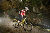 A mountain biker on a ride in Cornwall. - Paul Box - 16-11-2009