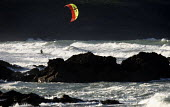 A kite surfer in Cornwall. - Paul Box - 17-11-2009