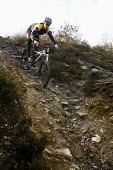 A mountain biker on a ride in Cornwall. - Paul Box - 17-11-2009