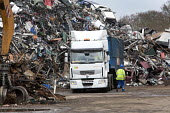 A lorry of scrap metal arrives at SITA metal recycling facility at Boreham, Chelmsford. - Paul Box - 26-04-2010