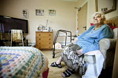 A resident of Ty Darren Care Home, a council-run care home which is due to close due to council cuts. Newport, Wales - Paul Box - 11-09-2010